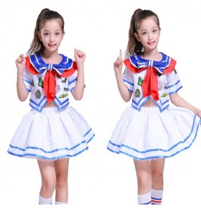 Girls jazz princess stage performance dresses modern dance cheer leaders singers chorus stage performance costumes