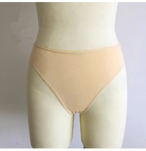 Girls kids ballet latin dance shorts invisible skin color stage performance underwear triangle shorts