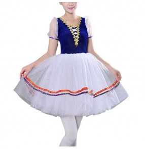 Girls kids children ballet dress tutu skirts stage performance modern dance ballet dance outfits costumes dress
