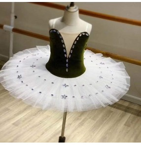Girls kids tutu skirts ballet dance dresses Professional children's tutu Swan Lake ballerina performance dresseschildren practice dresses dance clothes