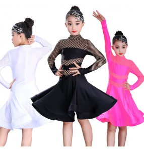Girls latin dance dresses competition stage performance rumba salsa chacha dance skirts costumes