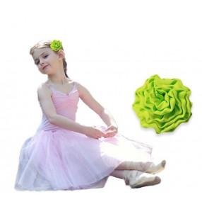 Girls latin stage performance headdress rose flowers for kids modern dance chorus princess dress head flowers