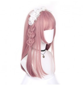 Girls lolita style drama cosplay wig cute Japanese student cosplay princess straight hair