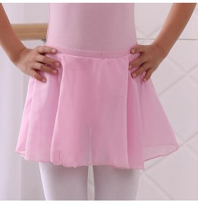 Girls modern dance ballet dance tutu chiffon skirt  children practice gymnastics stage performance practice dance skirts
