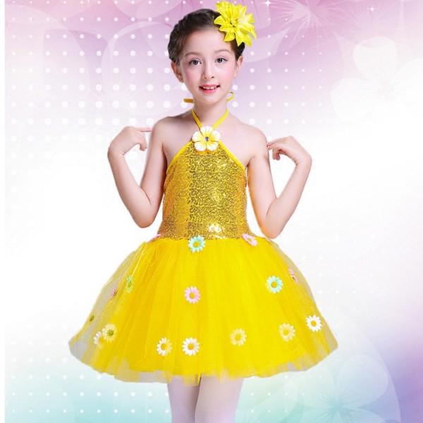 7879d104c4d2 Girls modern dance ballet dress princess jazz singers dress chorus ...
