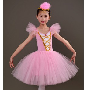 Girls modern dance ballet tutu skirt ballet dress kids children stage performance costumes skirts dress