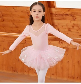 Girls pink tutu skirt ballet dance dress for kids modern dance princess gymnastics ballet dance costumes for children
