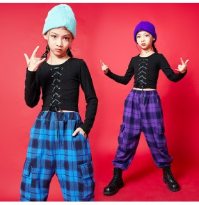 Girls Street hiphop rap Dance Costumes Girls Handsome Jazz Dance Tide Brand Suit Models T Stage Catwalk Fashion Clothes