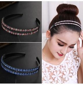 Hair band female Korean headband hair hoop bling hair clip barrette hairpin adult female non-slip headband headwear