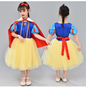 Halloween princess cosplay dresses children's performance costume kindergarten girl puffy skirt choir singers performing dresses