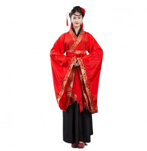 Hanfu chinese traditional stage performance dress for women girls tang dynasty fairy princess dress drama cosplay kimono dress