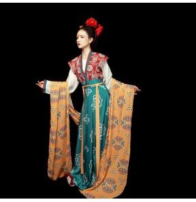 Hanfu chinese traditional tang dynasty empress film drama cosplay dresses stage performance photos video shooting anime drama cosplay kimono dresses