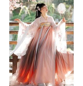 Hanfu for women chinese ancient folk costumes for female Han Tang Dynasty oriental empress princess dance dresses photos shooting fairy princess for lady