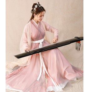 Hanfu women Chinese ancient traditional costume han ming qing tang princess clothing Chinese fairy skirt girls student classical dance costumes