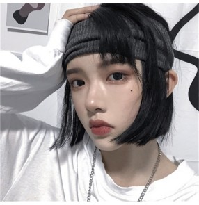 hiphop dance headband sports fitness performance Men and women neutral ruffian handsome decadent knitted headscarf sports hair band