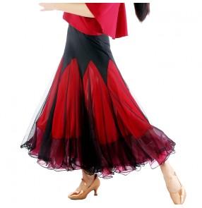 Ballroom Dance Competition Dresses Ballroom Dance Skirts Waltz tango Foxtrot Quickstep Viennese Waltz skirt flamenco