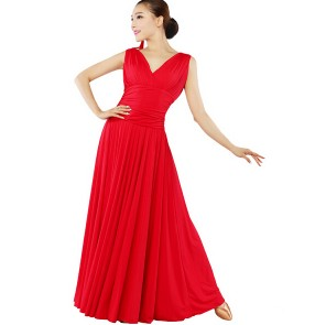 Ballroom dance dress one-piece dress expansion modern dance skirt viennese waltz dress, tango,flamenco dress