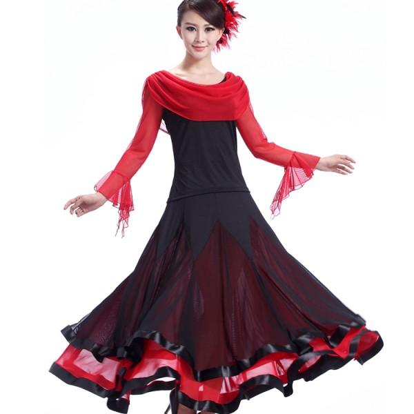 2c38461f0257 Ballroom Dance Dress Women Ballroom Dancing Dress Waltz Dance Dress Tango flamenco  dress flamenco dress