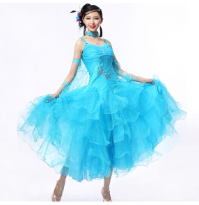 Ballroom standard dance dress,Ballroom dance competition dress,Women,girl,adult dance dress ballroom waltz dress flamenco