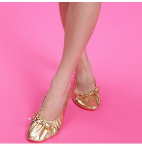 Belly dancing shoes and dance shoes soft soled shoes dance practice shoes catlike golden shoes