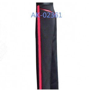Black red patchwork colored red ribbon competition men's male mans mens professional practice ballroom waltz tango dance pants dancers costumes