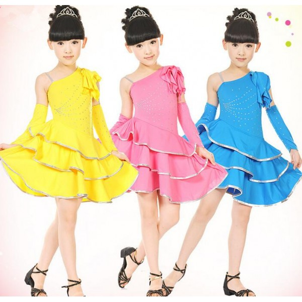 Yellow and black dress for girls
