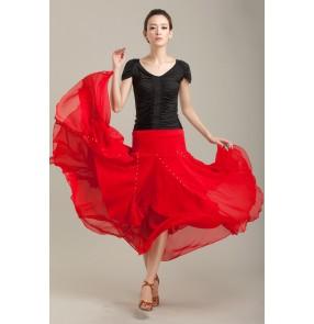 Chiffon Ballroom Dance Skirts Ballroom Dance Competition Dresses Waltz tango Foxtrot Quickstep Viennese Waltz