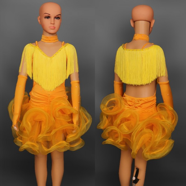 Christmas dress dance - Ballroom Dance Costume Latin Dance Dress For Girls Flamenco Dress