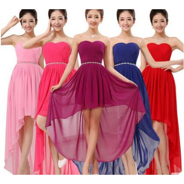 42bf9e8139a Coral turquoise royal blue fuchsia Women s irregular hem chiffon off  shoulder long length A- line bridesmaid dress wedding party dress