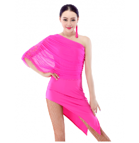 Diagonal shoulder Latin Dance Dress