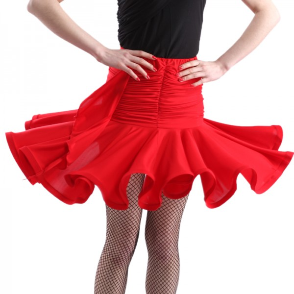 380d73af70da Dynasty dance Latin dance skirt dance clothes bottoms practice skirts  pleated short skirt