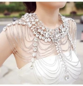 Fashion Punk Multilayer tassel body chain cape necklace