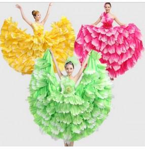 Flamenco dance performance costumes/Girls flamenco dresses spanish dance dress ballroom dance dress