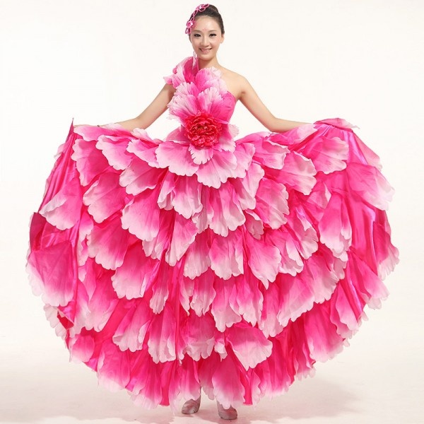 e30ed4e2884f Flamenco dance performance costumes Girls flamenco dresses spanish dance  dress ballroom dance dress