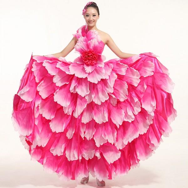 Flamenco dance performance costumes/Girls flamenco dresses ...