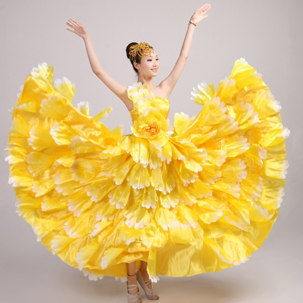 b0ea78fdfc6a Flamenco dance performance costumes/Girls flamenco dresses spanish dance  dress ballroom dance dress