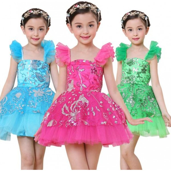 b1596159d43c Fuchsia hot pink turquoise blue green paillette sequined sleeveless ...