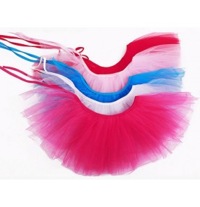 Fuchsia white turquoise red pink black yellow gold Girls kids child children baby tutu ballet skirt cake ballet skirt
