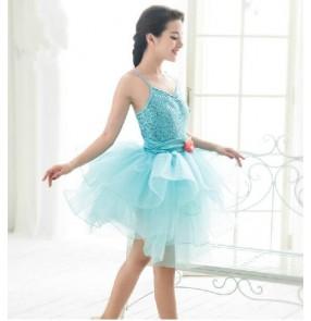 Girls adult children ballet dance dress turquoise tutu skirt  turquoise