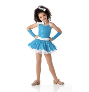 Girls and children sequined ballet dancing dress fuchsia and violet turquoise