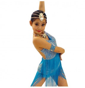 Girls ballroom dress Samba Dance Latin Salsa Dresses Dance Costumes flamenco dress for children latin dance dresses