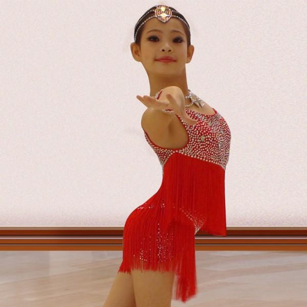 Girls ballroom dress Samba Dance Latin Salsa Dresses Dance ...