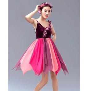 Girls Chiffon tutu skirt ballet dancing dress