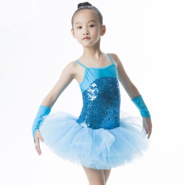 334d2ebe5 Girls children kids paillette patchwork leotard skirt tutu ballet ...