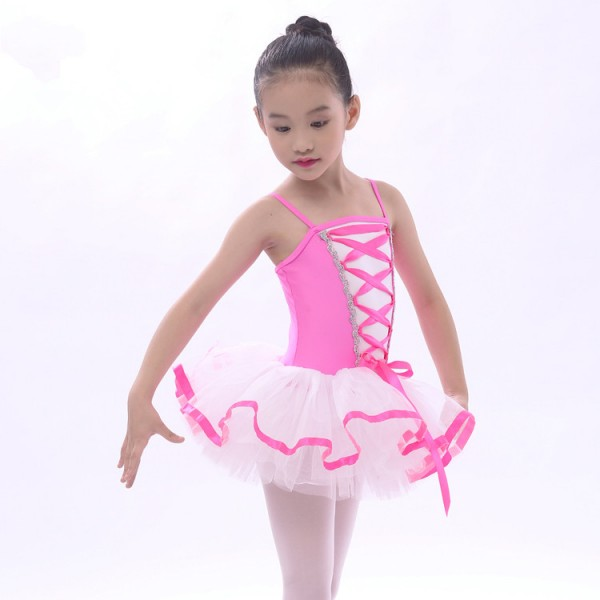 Girls' kids children leotard tutu skirt ballet dance dress ...