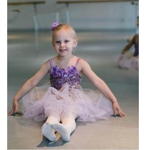Girls kids children violet tutu skirt ballet dance dress leotard skirt