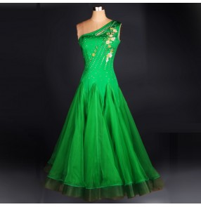 Green tango chacha Style ballroom Standard Dance Dress