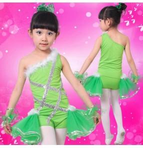 Green turquoise red tutu skirt girls kids child children Toddlers leotard baby  paillette tutu skirt ballet  gymnastics practice dance costumes
