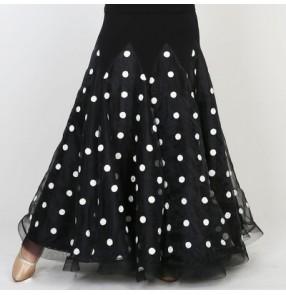 Ice Silk Ballroom Dance Skirts Ballroom Dance Waltz tango Foxtrot Quickstep Viennese Waltz polka dot