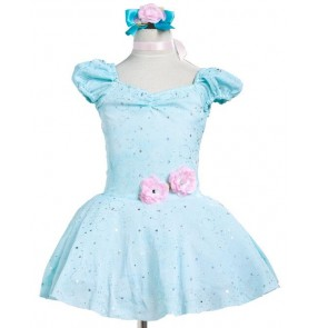 Kids girls blue tutu skirt ballet dance dress